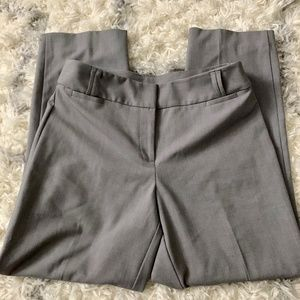 (2/$25) Anne Klein Grey Straight Leg Dress Pants